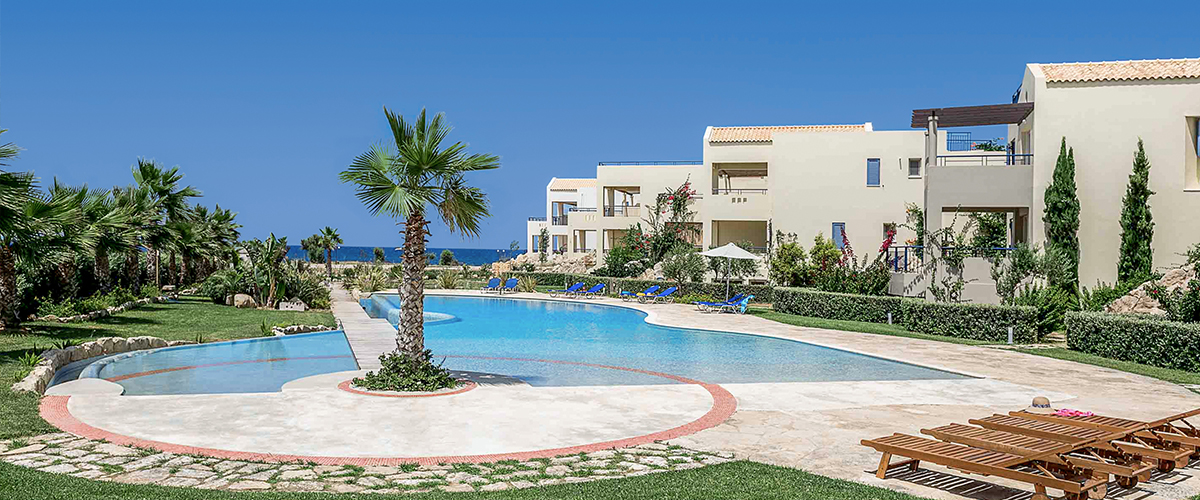 Aphrodite Beachfront 2+1 Bedroom Junior Villa  at Maleme - Crete